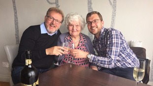 David Mundell and Oliver Mundell, with David's 90-year-old mother Dorah.