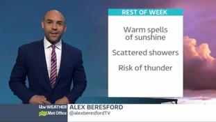 Sunshine, showers and maybe even thunder on the way
