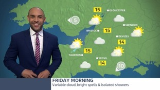 A warm day ahead but you may be dodging showers