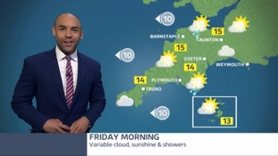 Expect sunshine and showers - some of them heavy