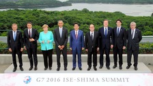 World leaders gather for the G7 summit in Shima, Japan.