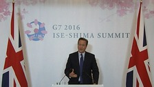 David Cameron welcomed the joint declaration agreed by the leaders US, Japan, Germany, France, Italy and Canada.