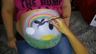 Painting baby bumps is a craze sweeping the nation