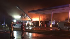 Fire crews battle big industrial estate blaze