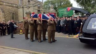 Sergent Lee Davidson funeral