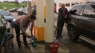 Drivers filled up at the pumps before heading to France.