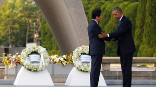 US President Barack Obama paid his respects at the Hiroshima Peace Memorial.