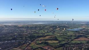 Balloons are a regular fixture of the West Country in the summer months