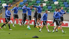 The squad train ahead of Friday's friendly.