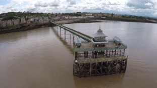 Clevedon Pier as you've never seen it before