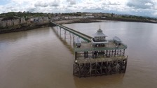 We've had our aerial camera out on the beautiful Clevedon Pier - take a look at these stunning pictures.