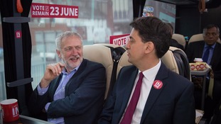 The campaign is the first time Mr Corbyn and Mr Miliband have teamed up since 2015's change of leadership.