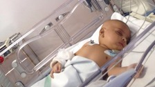 Little Sufyan caught the disease twice