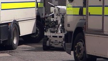 A security alert in Strabane was caused by component parts of an explosive device.
