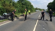 OPU Worcestershire clearing the road after the crash
