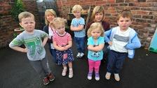 Devastated: Little ones had their playground destroyed