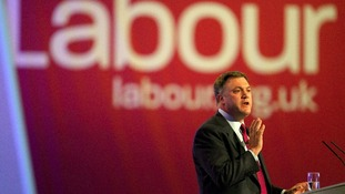 Shadow Chancellor Ed Balls delivers his speech today.