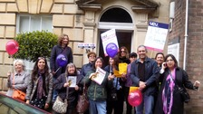 Staff at Bristol University's Graduate School of Education on strike