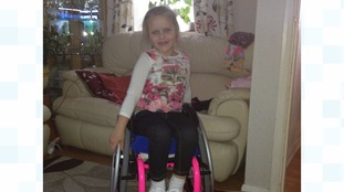 Karlina, 6, uses a wheelchair after the crash