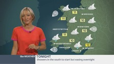 Wales Weather: Showers to ease later!