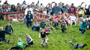 Cheese rolling returns to Coopers Hill