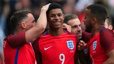 Marcus Rashford scored with only his fourth touch of the game.