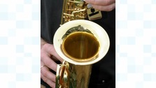 File photo of a saxophone