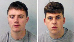 Billy Johnson (left), 20, from Northamptonshire, and Charles Noble, 21, from Northolt, north-west London.