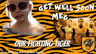Hull city fans urged to sing for Megan in 12th minute of play-off final