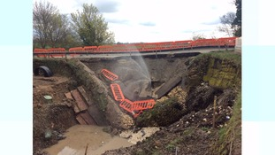 A614 at Howden was closed when a culvert beneath it collapsed last month
