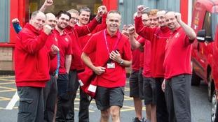 Postman walks earliest postal route for charity