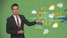 Weather: Warm and humid amid thundery downpours.