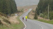 Adam Watret tackling the 'Devil's Beeftub' road near Moffat