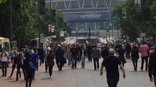 Thousands on Wembley Way ahead of play-off final