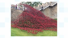 Poppies sculpture at Lincoln Castle