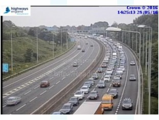 M5 Southbound Motorway - J15 / J16, Almondsbury