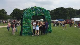 Revellers arrive for festival