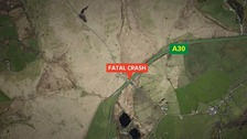 Investigation after 1 died and 6 injured in A30 crash