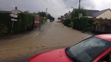 Homes affected as flash flooding hits parts of Carmarthenshire