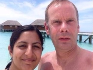 Jason Parnell, with his wife Puja Credit