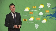 Weather: Dry with warm and sunny spells for most.