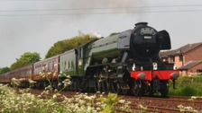 Scotsman fans get great views as iconic loco returns