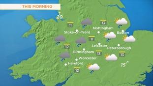 Tuesday morning's forecast
