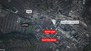Two roads in the centre of Luton have been sealed off by police
