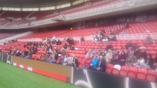 Crowds at the Riverside