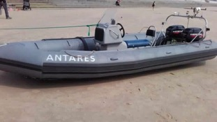 The inflatable boat