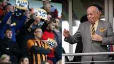 Assam Allam (R) has had a strained relationship with some supporters since trying to change the club's name