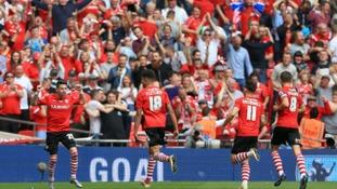Screamer from Adam Hammill sees Barnsley lead at half-time