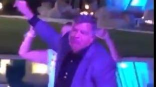 Sunderland's Sam Allardyce filmed dancing in Marbella