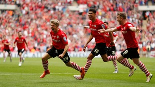 League One play-off final match report: Barnsley 3-1 Millwall